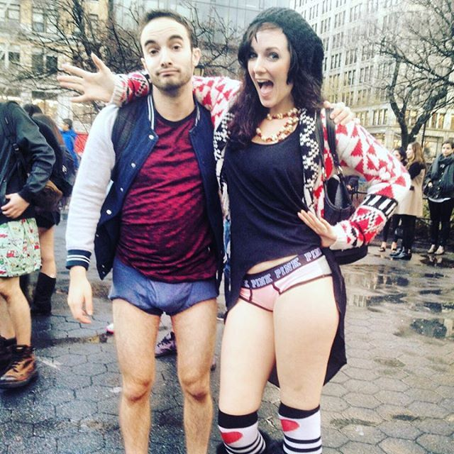 Travelers Strip Down To Their Underwear For No Pants Subway Ride Day (24 pics)