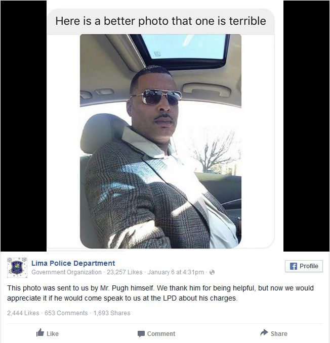 Man Sends Police A New Photo To Use For His Mugshot (2 pics)