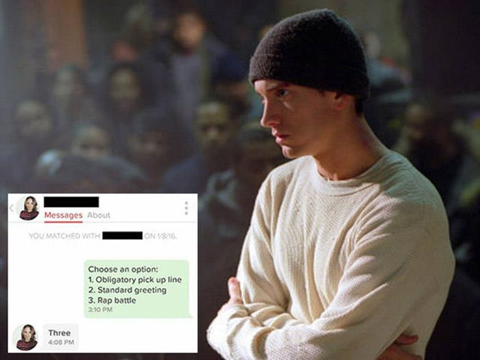 Guy Spits Some Serious Fire As He Challenges A Girl On Tinder To A Rap Battle (6 pics)