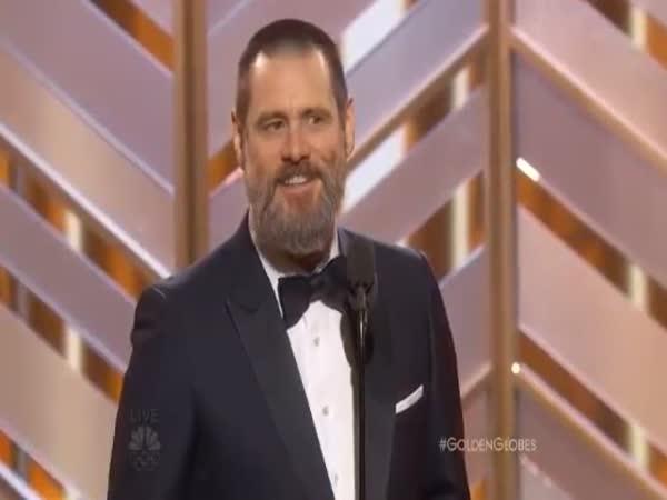 Jim Carrey At Golden Globes 2016
