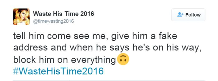 The Most Brutal Tweets From The #WasteHisTime2016 Hashtag (18 pics)