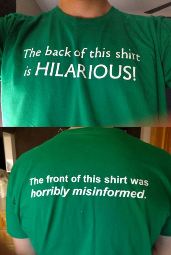 The Funniest T-Shirts Ever Spotted On The Internet (20 pics)