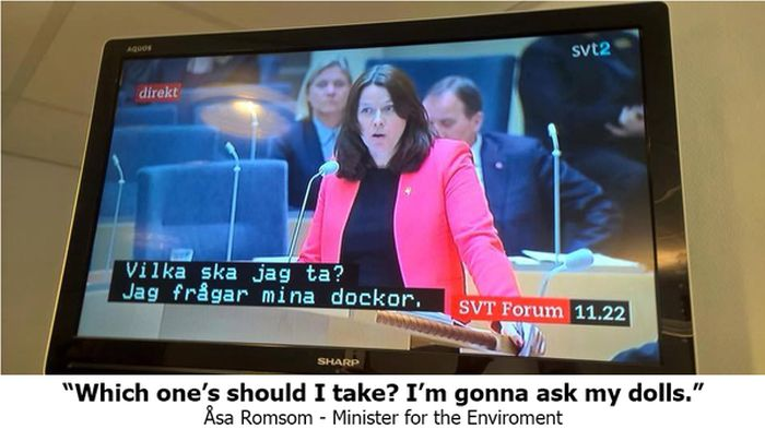 Subtitles Get Switched During Swedish Debate (9 pics)