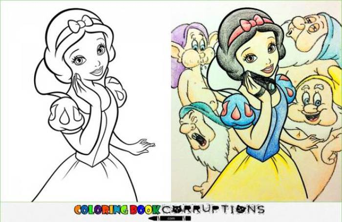 What It Looks Like When Children's Coloring Books Go Bad (35 pics)