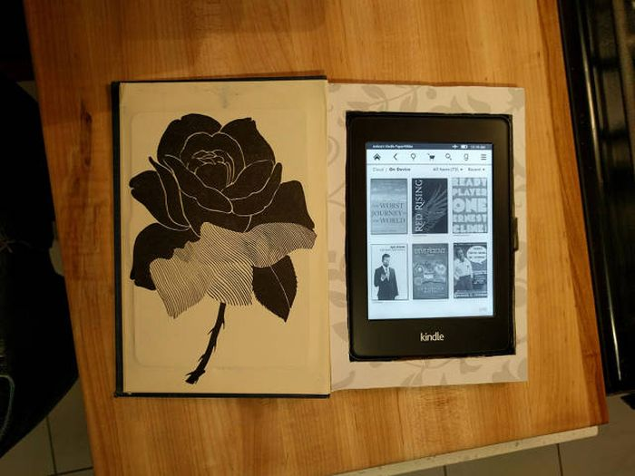 Guy Turns Old Book Into An Awesome Kindle Case (15 pics)