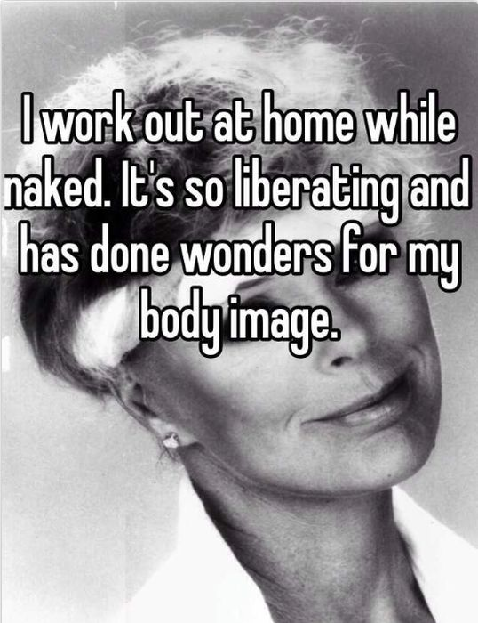 People Reveal The Strange Things They Do When They're Naked At Home (17 pics)