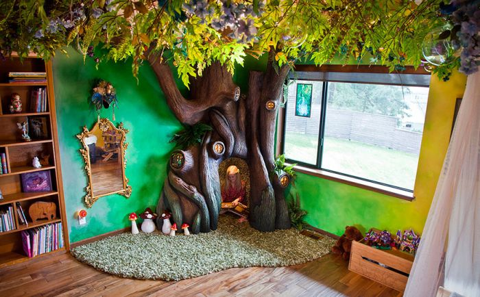 This Dad Spent 18 Months Turning His Daughter's Room Into A Real Fairytale (12 pics)