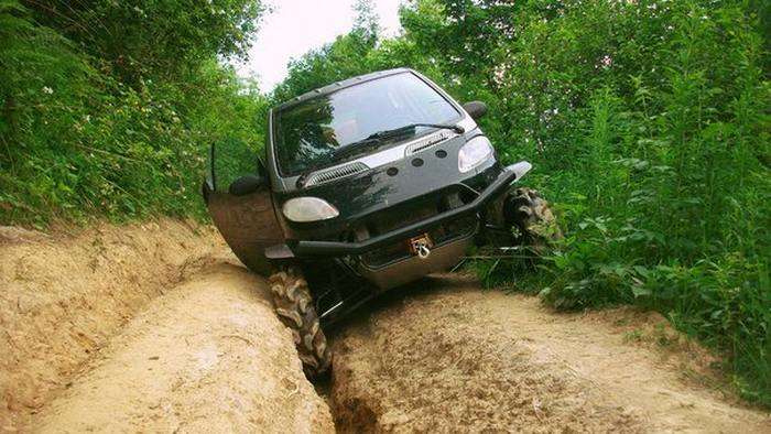 It Turns Out That Smart Cars Actually Make Awesome Off Road Vehicles (12 pics)