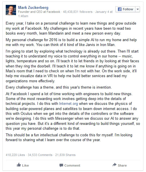 Mark Zuckerberg Had The Perfect Response To A Facebook User's Comment (4 pics)
