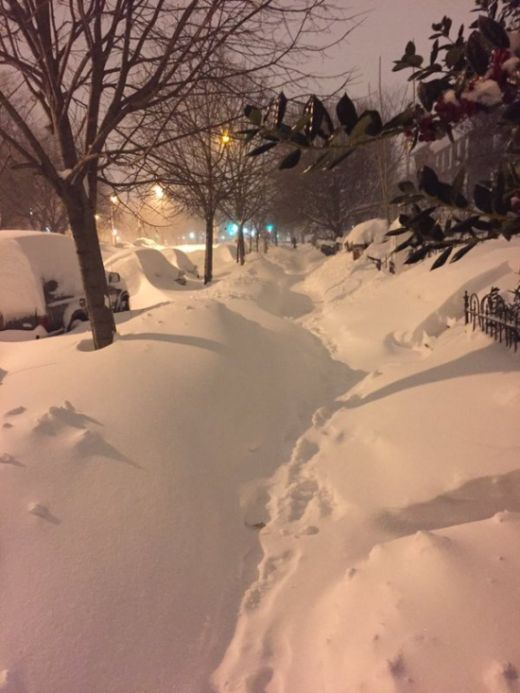 Massive Snowstorm Blankets Parts of New York (42 pics)