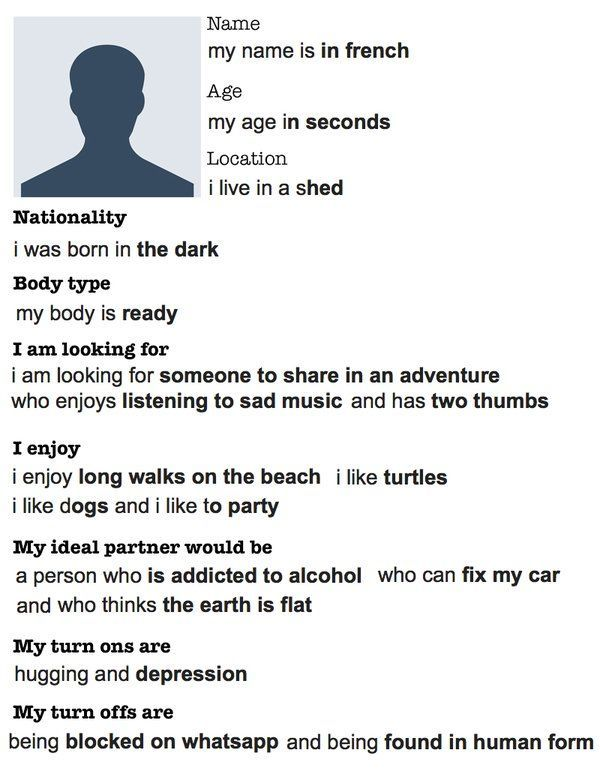 Guy Creates Best Dating Profile Ever With Help From Google Autocomplete (2 pics)