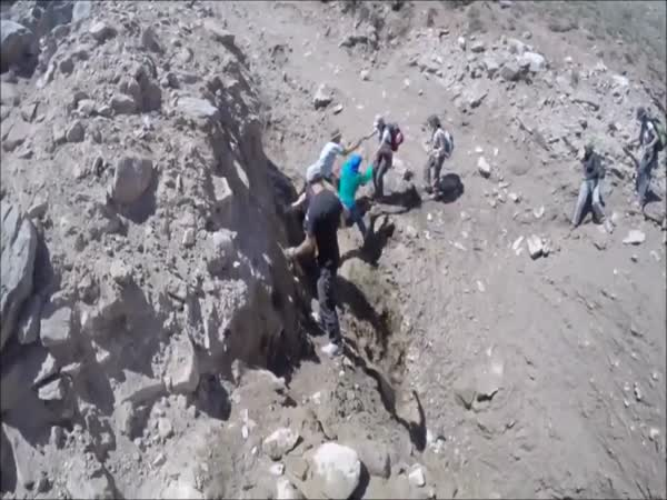 Landslide In The Mountains