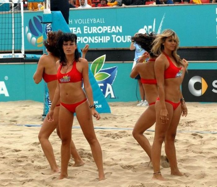 Beach Volleyball Cheerleaders Put All Other Cheerleaders To Shame (41 pics)
