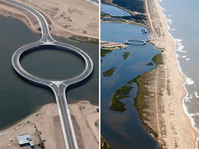 In Uruguay There's A Circular Bridge With An Unforgettable View (5 pics)