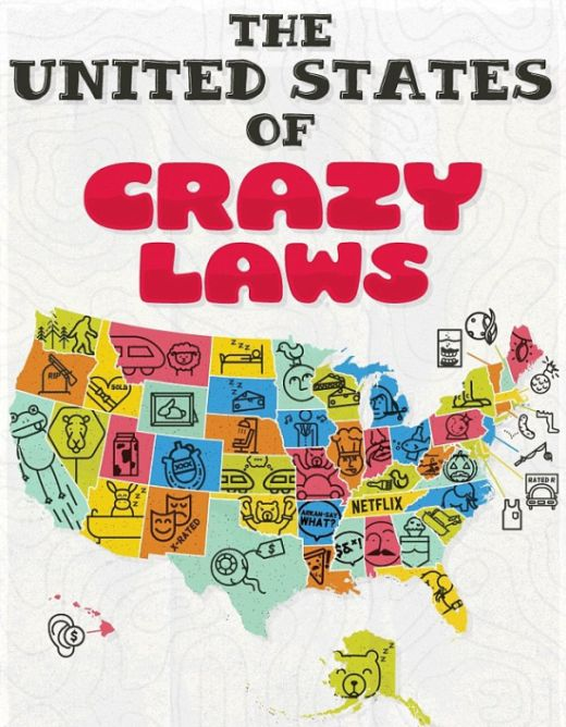 Infographic Reveals The Craziest Laws That Still Exist In The United States (infographic)