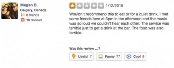 Bar Owner Has A Great Response For An Unhappy Customer On Yelp (3 pics)