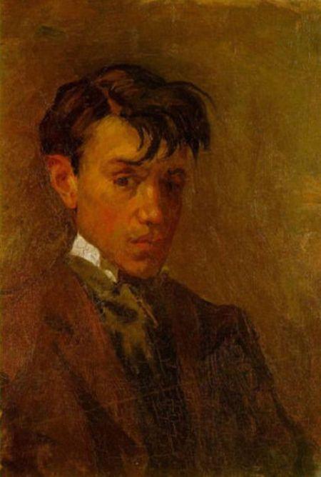 Pablo Picasso's Self Portrait At Age 16 Compared To Age 72 (2 pics)