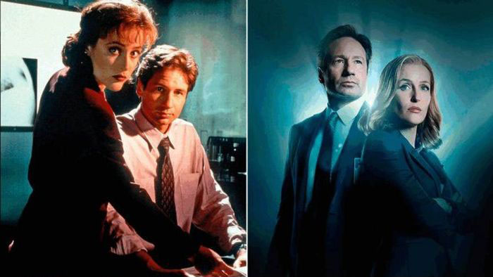 The Cast Of The X-Files Back In The Day And Today (6 pics)