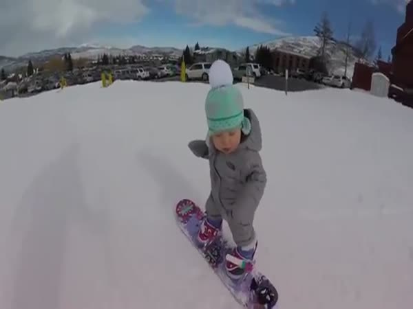 Snowboarding 1 Year Old Hits