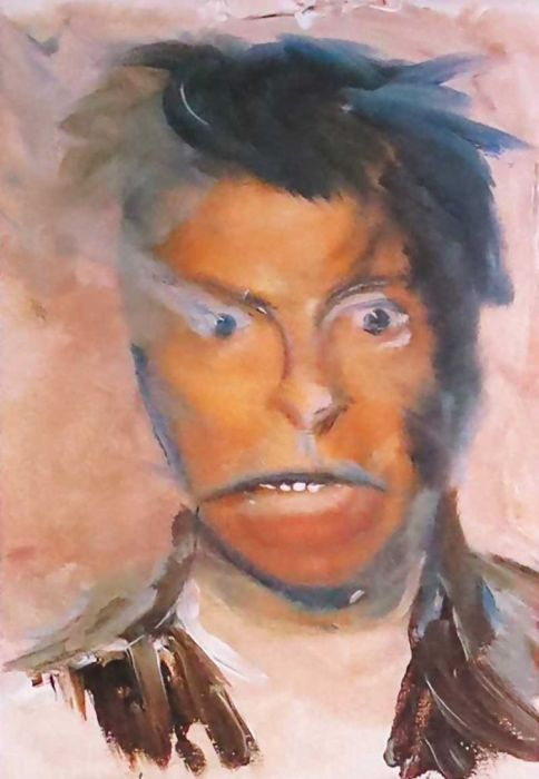 One Of A Kind Paintings By The Late, Great David Bowie (20 pics)