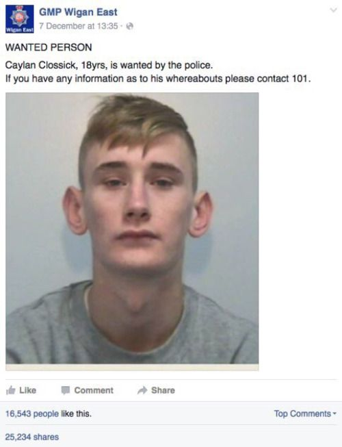 This Kid Got Roasted On Facebook When The Police Posted His Picture  (4 pics)