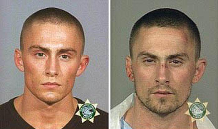Police Mugshots Show A Man's Descent Into A Life Of Crime (4 pics)