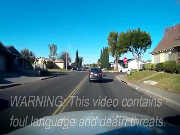Road Raging Maniac Goes Off On Another Driver