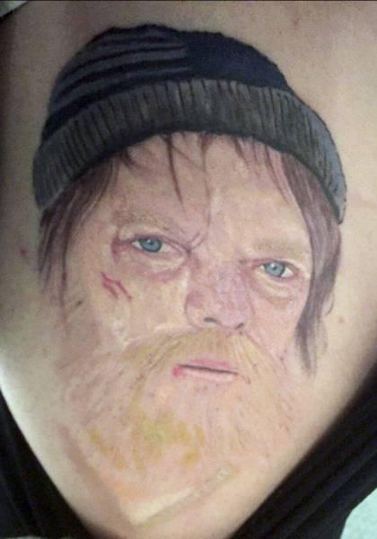 This Woman Got A Ridiculous Tattoo After Making A Drunken Bet (8 pics)