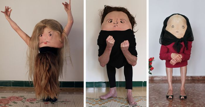 An Artist Is Turning People Into Strange Creatures By Drawing Faces On Their Backs (12 pics)