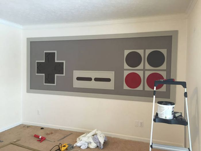 Parents Create A Giant NES Replica For Their Kids (19 pics)