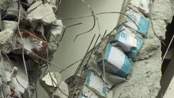 Building In Taiwan Torn Apart By An Earthquake (4 pics)