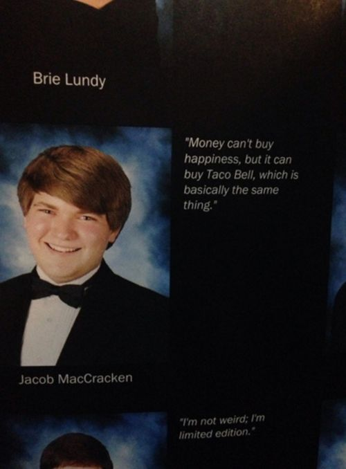 Kids Who Knocked It Out Of The Park With Their Senior Yearbook Quotes (22 pics)