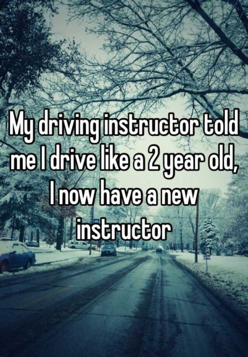 People Reveal Awkward Driver's Ed Confessions (18 pics)