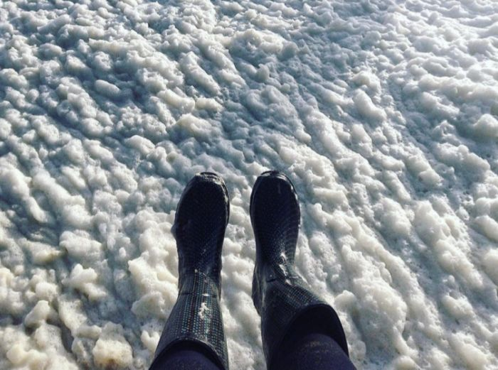 A Town In France Is Completely Covered In Foam (8 pics)