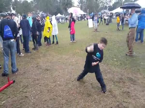 Chubby Kid Does Cringeworthy Dance At Chili Cook Off