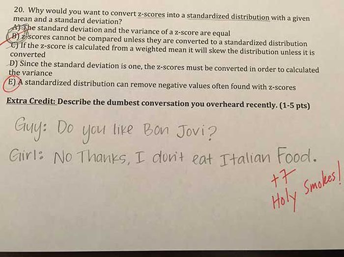This College Professor Asks The Coolest Extra Credit Questions (9 pics)