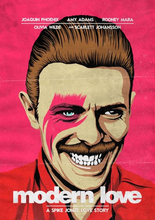 Epic Illustrations Mash David Bowie Up With Pop Culture Icons (25 pics)