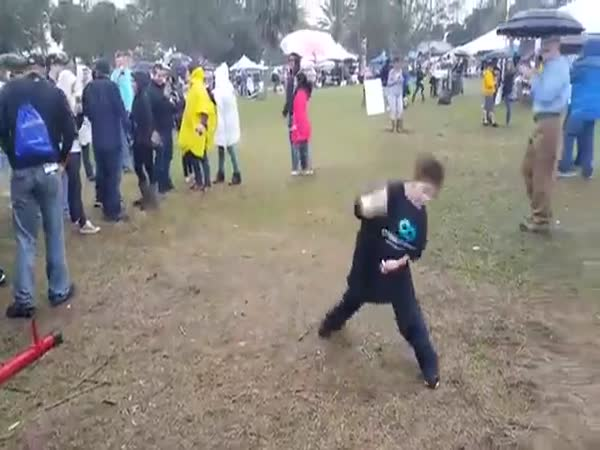 Chunky Kid Shows Some Awkward Dancing Skills At Chili Cook Off