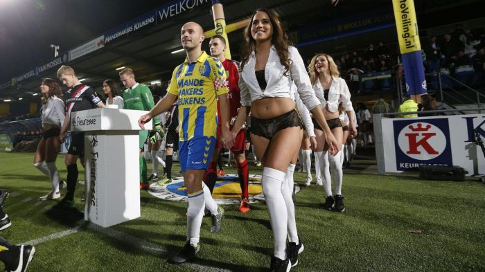 Dutch Football Team Replaces Their Mascots With Models For Valentine's Day (9 pics)