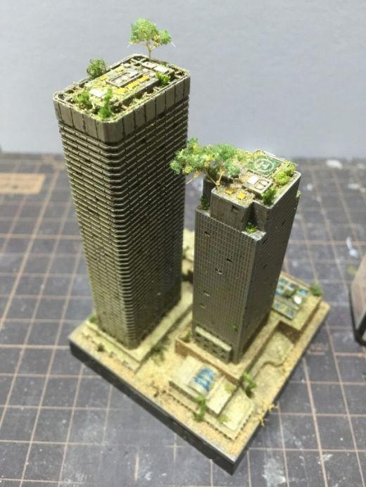 Gundam Masaki Creates Stunning Dioramas Of Flooded Cities (10 pics)
