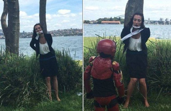 This Kid Got To Be Iron Man For A Whole Day And Robert Downey Jr. Approved (8 pics + video)