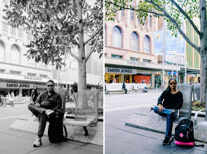 Daughter Travels To The Same Locations Her Late Father Used To Visit (12 pics)