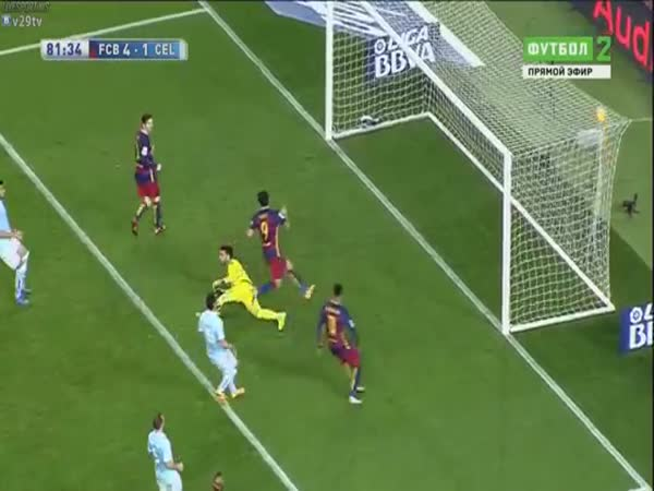 Luis Suarez Goal Penalty Assist Lionel Messi Barcelona Vs Celta De Vigo