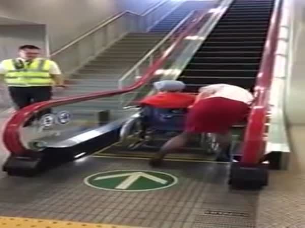 Escalator For Wheel Chair In Japan