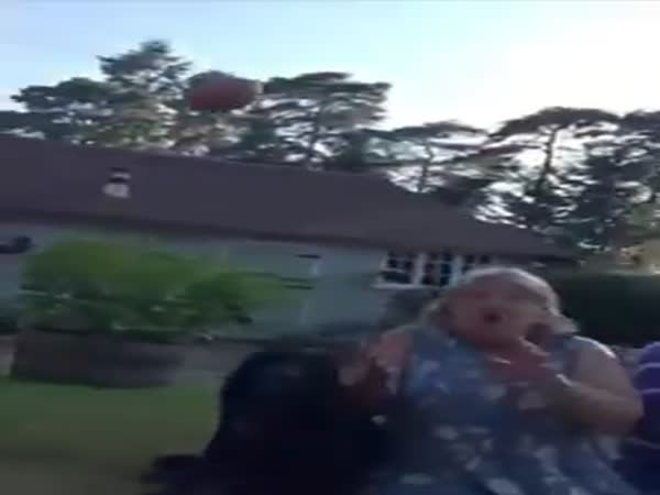 Guy Throws Eggs To His Mother