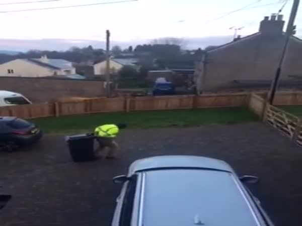 Ice vs Guy With a Trash Can