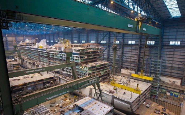 What A Cruise Ship Looks Like Before It Comes Together (9 pics)