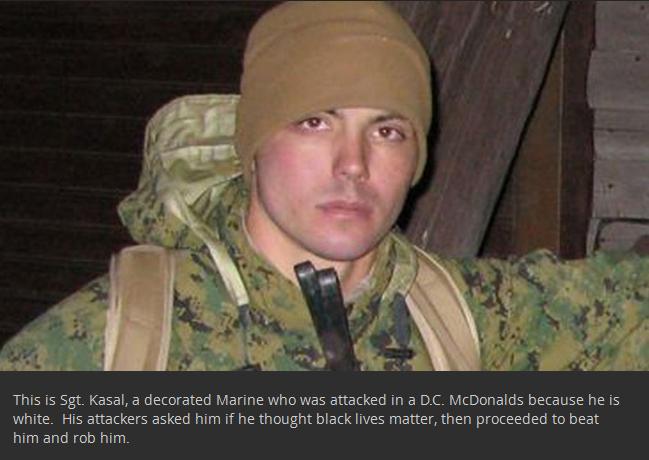 Army Hero Gets Robbed And Beaten At A Washington D.C. McDonald's (3 pics)