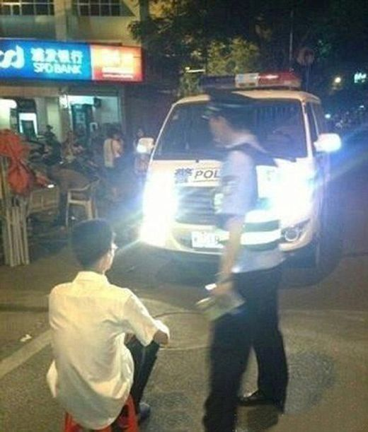 Chinese Police Found A Perfect Punishment For Drivers That Always Use High Beams (6 pics)