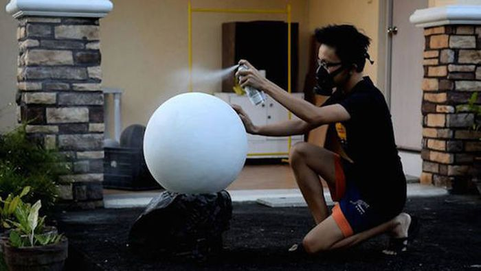 Filipino Teen Builds His Own Working BB-8 Droid From Star Wars (17 pics)